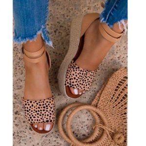 Platform Sandals in Cheetah